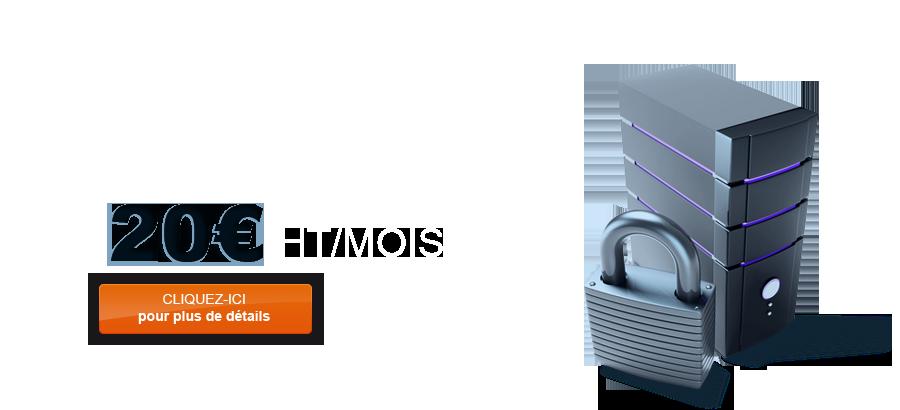 Maintenance Hébergement pour 20 € HT/MOIS